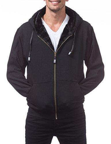 Pro Club Men's Heavyweight Pile Full Zip Hoodie, X-Large, (Pro Club Sweatshirts)