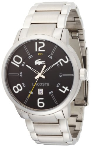 Lacoste Barcelona Black Dial Stainless Steel Mens Watch 2010495