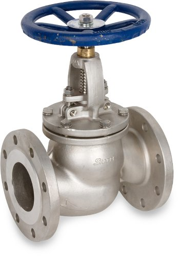 Sharpe Valves 45116 Series Stainless Steel 316 Globe Valve, Bolted Bonnet, Inline, Hand Wheel, 1