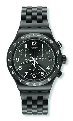 Swatch Reloj Digital para Hombre de Cuarzo con Correa en Acero Inoxidable YVM402G: Amazon.es: Relojes