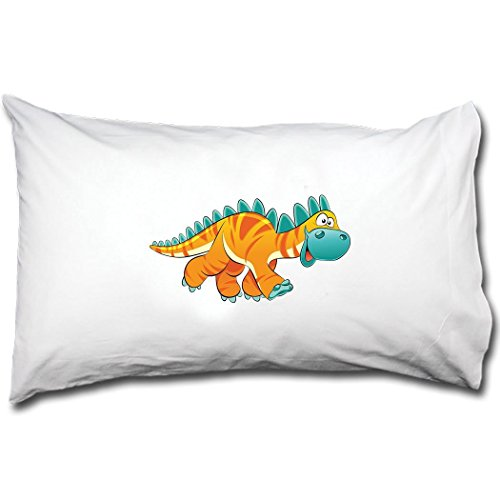 Dinosaur Yellow Facing Right Animals Bed Pillow Case Single Pillowcase Renee (Right Hand Facing Computer)