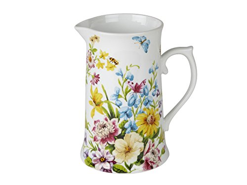 (Katie Alice English Garden Shabby Chic Large Tall Porcelain Jug)