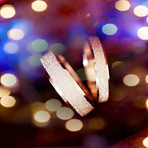 Rhame Fashion Stainless Steel Rose Gold Silver Frosted Women Wedding Band Ring Sz5-13 | Model RNG - 21242 | 7
