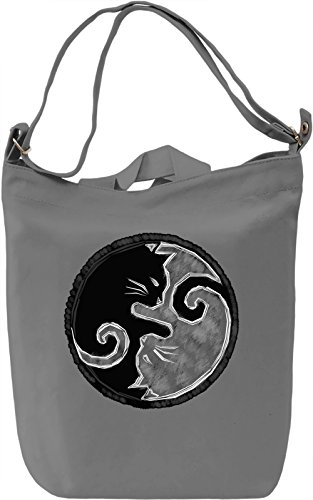 Yin Yang Kitties Borsa Giornaliera Canvas Canvas Day Bag| 100% Premium Cotton Canvas| DTG Printing|