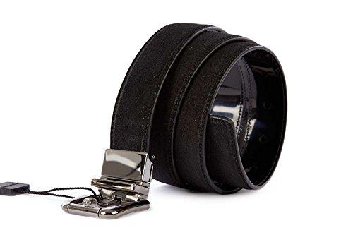 DOLCE&GABBANA men's adjustable length reversible leather belt black US size 44 BC3425 A3112 80999