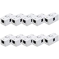 PANOEAGLE DC 5V-48V RJ45 Connector POE Injector Power Over Ethernet Adapter Power Supply (Pack of 10PCS)
