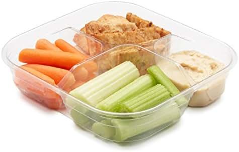 Carrots, Celery, Hummus & Pita Chips Snack Tray, 5 oz