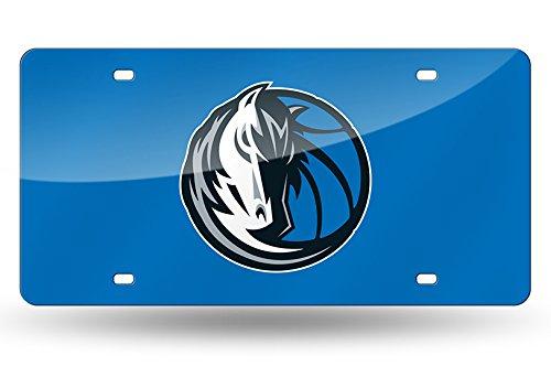 Rico NBA Dallas Mavericks Laser Inlaid Metal License Plate Tag, Blue by Rico