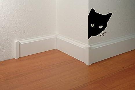 Oedim Vinilo Decorativo Para Pared Gato Asomado | 13x17cm | Pegatina Adhesiva Decorativa de Diseño Elegante: Amazon.es: Hogar