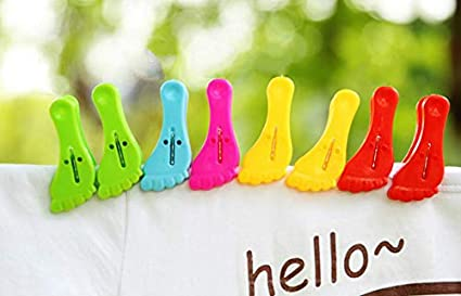 HellO X 12pcs/Set de Clips para Toallas de Playa, Carpeta de Alimentos,