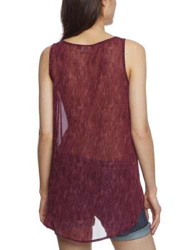 Only - Camiseta sin mangas para mujer Fig Aop Aop W Fig/% Darker Fig 020/% Lighter Fig 020
