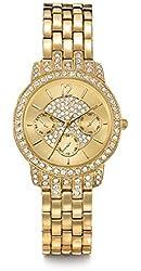 Avon Bling Pave Watch With Swarovski Crystals - Goldtone