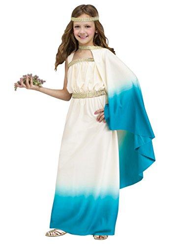 [Big Girls' Blue Goddess Costume Medium (8-10)] (Greek Costumes For Girls)