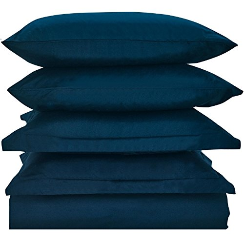 Price comparison product image Mellanni Duvet Cover Set Royal-Blue - Double Brushed Microfiber 1800 Bedding Collection with Extra Pillowcase - Wrinkle, Fade, Stain Resistant - Hypoallergenic - 3 Piece (Twin/Twin XL, Royal Blue)