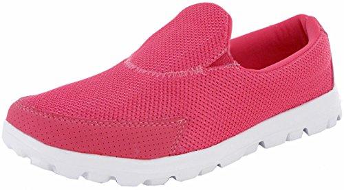 Damen Go Wandern Bekomme Passform Turnschuhe Sportschuhe Athletic Laufschuhe Sport Fitness DEK Pink/Pink