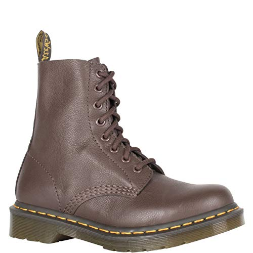Dr. Martens Women's 1460 Pascal Mid Calf Boot, Dark Brown, 7 M UK (9 US) (Brown Wide Calf Boots Size 9)