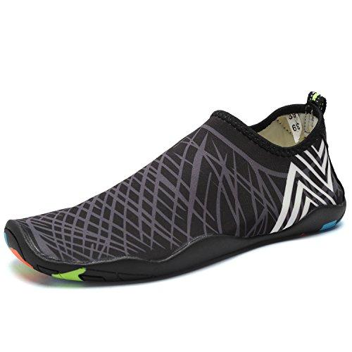 Walucan Waterschoenen Barefoot Sneldrogend Aqua Sporten Voor Yoga Strand Rijden Wandelen Voor Mannen En Vrouwen X.gray