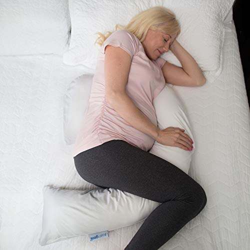 Dr. Brown's Dreamgenii Pregnancy Pillow & Breastfeeding Pillow, 2 in 1, Gray