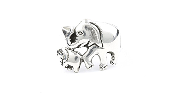 925 Sterling Silver Rings White Cubic Zirconia Ring Set for Bride Wedding Band Engagement Or Mum Gifts Brilliant Party Jewelry 6-10 Elephant Ring Sterling Silver Engraved Elephant Wrap Ring