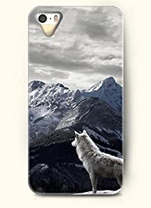 OOFIT Phone Case Desin with Snow Wolf and Mountains for Apple iPhone 4 4s 4g