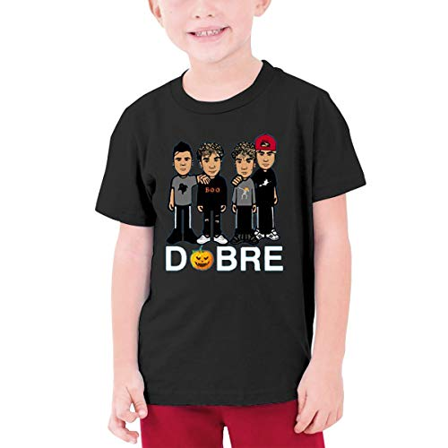 (HHenry Youth Halloween Pumpkin Dobre Brothers Short Sleeve T-Shirt Tee Tops for Boys Girls Black)
