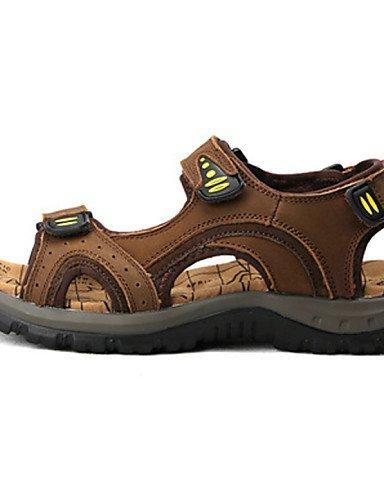 ShangYi Herren Sandaletten Herrenschuhe - Outddor / Lässig / Sportlich - Sandalen - Leder - Braun Brown