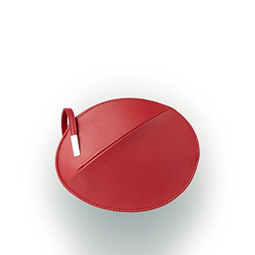 femme Rot main OLBRISH pour à Rouge b Sac Leder XwOOqn7C
