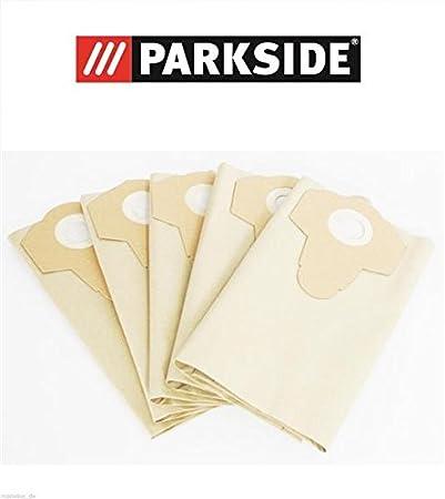 20 L confezione da 5 pezzi Lidl Ian 102791 Parkside PNTS 1300 C3 Sacchetti per aspirapolvere a vapore o a secco