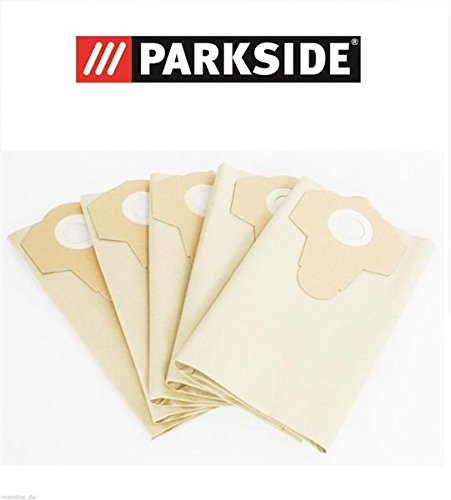 Parkside, sacchetti per aspirapolvere a secco/umido, 30L, PNTS 1400F2 Lidl Ian 287974, Confezione da 5 pezzi 30L