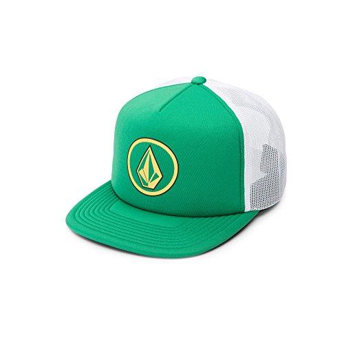 Volcom Men's Full Frontal Cheese 5 Panel Trucker Hat, Dark Kelly, One Size fits All - Dark Green Mesh Cap