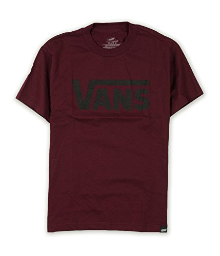 VANS Men Classic Logo T-Shirt (XL, Burgundy/black) for $<!--$17.28-->