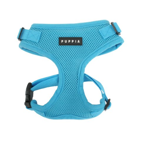 Puppia Authentic RiteFit Harness with Adjustable Neck, Sky Blue, Medium