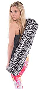 Yoga Mat Bag by Pier 17 for Women, Extra - Large with Pocket & Zipper, Yoga Bag Strap Canvas Material.