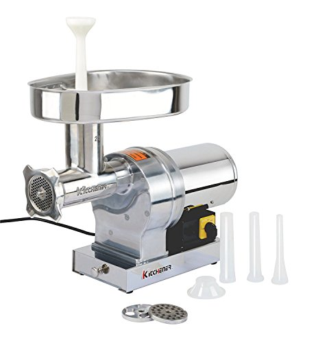 KITCHENER Heavy Duty Commercial Grade Electric Stainless Steel High HP Meat Grinder (1080-lbs Per Hour) (32 Electric Meat Grinder)