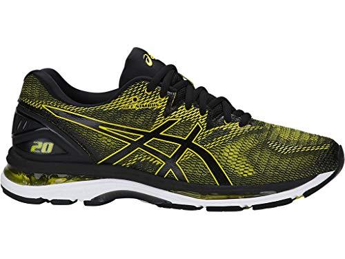 ASICS Men's Gel-Nimbus 20 Running Shoe, Sulphur Spring/Black/White, 10.5 Medium US