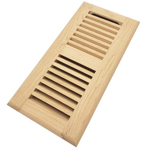 - Homewell Maple Wood Floor Register, Drop in Vent with Damper, 4x10 Inch, Unfinished