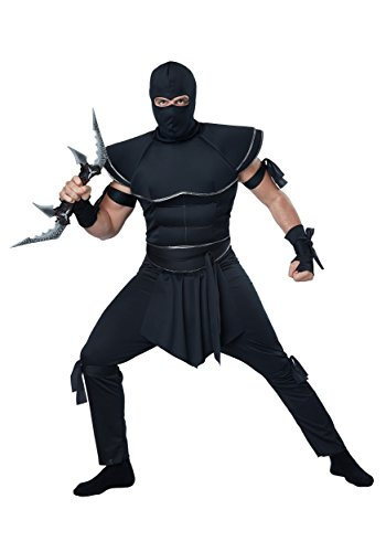 Ninja Costumes Adult (California Costumes Men's Stealth Ninja Costume, Black, Large)