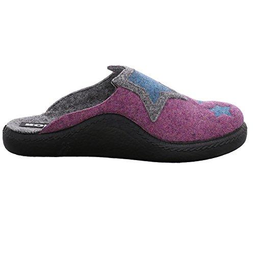 Romika multi Mokaso 582 582 142 Pantoffeln Viola Damen Mehrfarbig 6W6crRCB