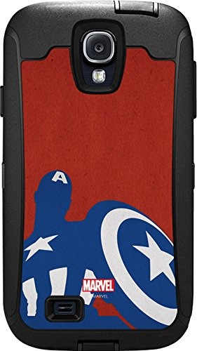 Captain America Silhouette - Skin for Otterbox Defender Samsung Galaxy S4