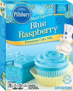 Pillsbury Blue Raspberry Moist Supreme Premium Cake Mix, 15.25 oz - 2 pack