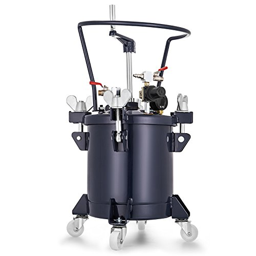 - VEVOR Pressure Pot 2.5 Gallon /10 Liters Spray Paint Pressure Pot Tank with Manual Mixing Agitator Paint Tank (2.5Gal Manual)