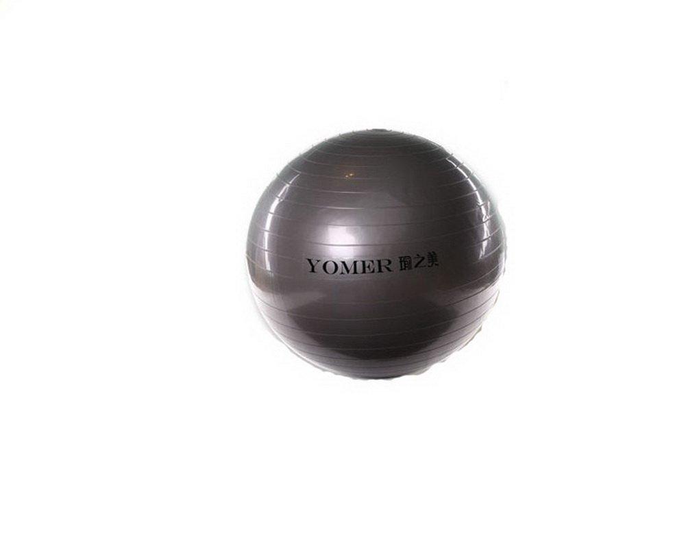 ヨガボール練習ボールとポンプワークアウト機器65 cm (ダークグレー)   B00GY03HLE