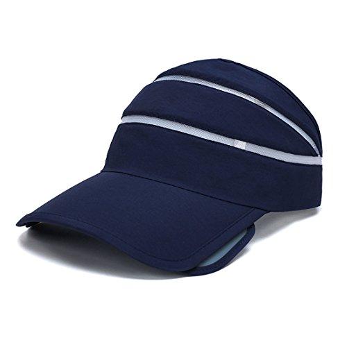 King Star Adjustable Sports Visor Hats Sun Visors Cap for Men Women Dark Blue ()