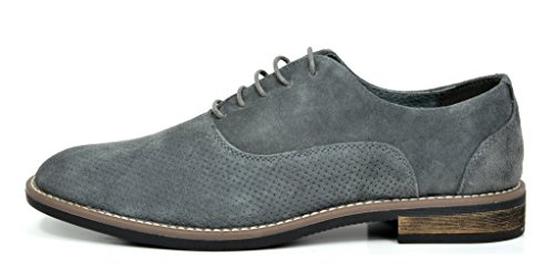 Bruno Marc Mens Urban Mocka Snörning Oxfords Skor 5-grå