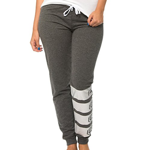 [E360P-HC-M] Coco-Limon Fleece Womens Jogger, Long Sweatpant, 1983 Print,Charcoal,Medium
