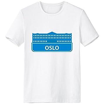 DIYthinker Oslo Noruega Landmark Azul Escote De Patrón De La ...