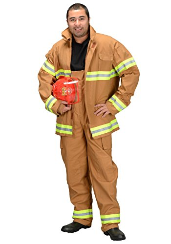 Fire Fighter Tan Adult Costumes (Aeromax FFT-ADULT Adult Fire Fighter Suit Costume in Tan Size: Large)
