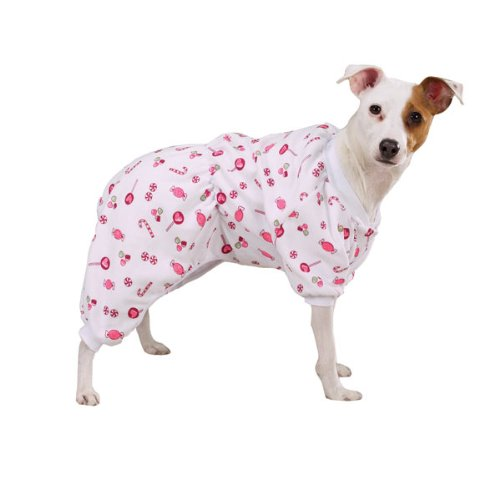 Zack & Zoey Sweet Dreams Pjs Lrg White/Candy (Pjs Dreams Dog Sweet)