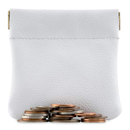 - Genuine Leather Squeeze Coin Purse, Pouch Made IN U.S.A. Change Holder For Men/Woman Size 3.5 X 3.5