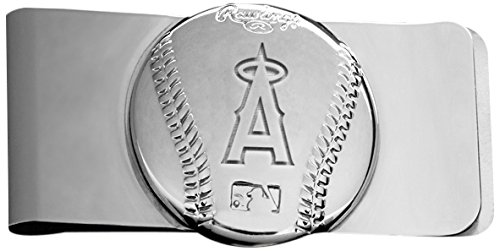 Rawlings Sports Accessories Wallet (MLB Los Angeles Angels Engraved Money Clip)